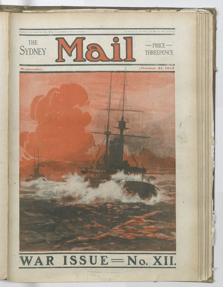 The Sydney Mail of 21 October 1914 depicted a naval battle. Just a few weeks later, the legendary battle between HMAS Sydney and SMS Emden took place, To order a fine art print of this image, please call the Library Shop on 61 2 9273 1611, quoting digital order number a9609012.