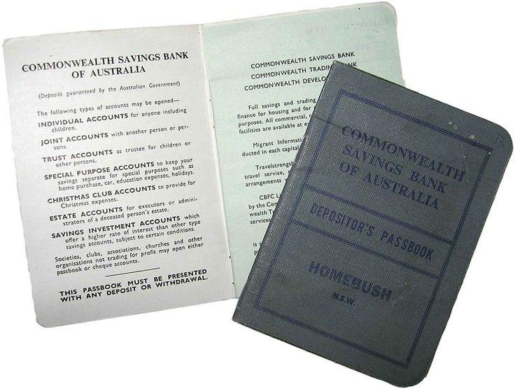 Commonwealth Bank Savings books we had in Primary School !!!!