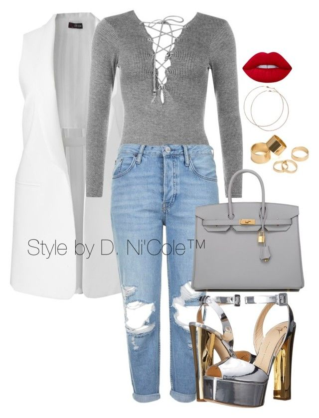 """""""Untitled #3290"""" by stylebydnicole ❤ liked on Polyvore featuring WearAll, Topshop, Giuseppe Zanotti, Hermès, Pieces, Wet Seal and Lime Crime"""