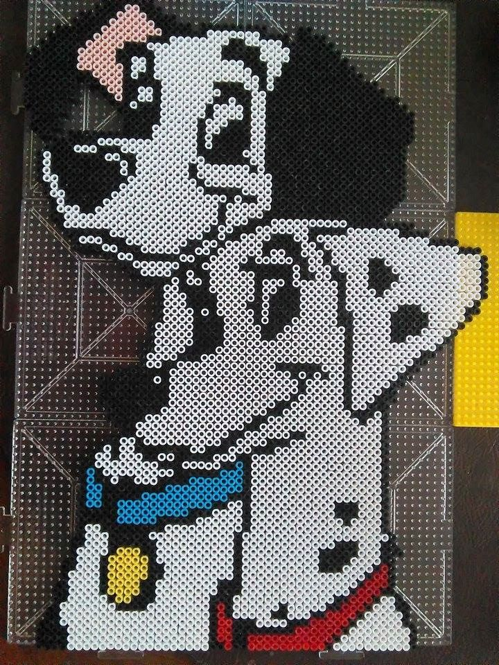 Pongo and Perdita - Disney 101 Dalmatians perler beads by FluffyRosey