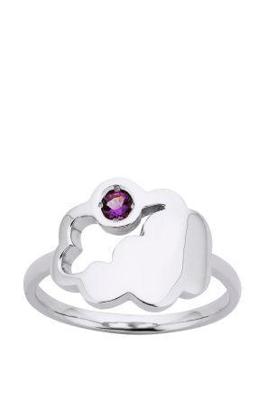 Karen Walker Jewellery | Cumulus Ring in Silver/Amethyst | Incu $65