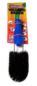 B95C  Washing Brush. Brush fits all garden hoses. Rinses away dirt while you scrub. Clean birdhouses, bird feeders, bird cages, pet cages, and bird baths.