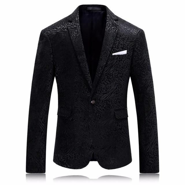 Men Suits Fire Kirin Blazer Men 2017 Famous Brand Stylish Blazers For Men Slim Fit Black Prom Blazers Fashion Printed Wedding Dress Q221