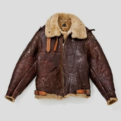 B-3 Bomber Jacket from the Second World War worn by the crews of the B17 and B24 bombers.