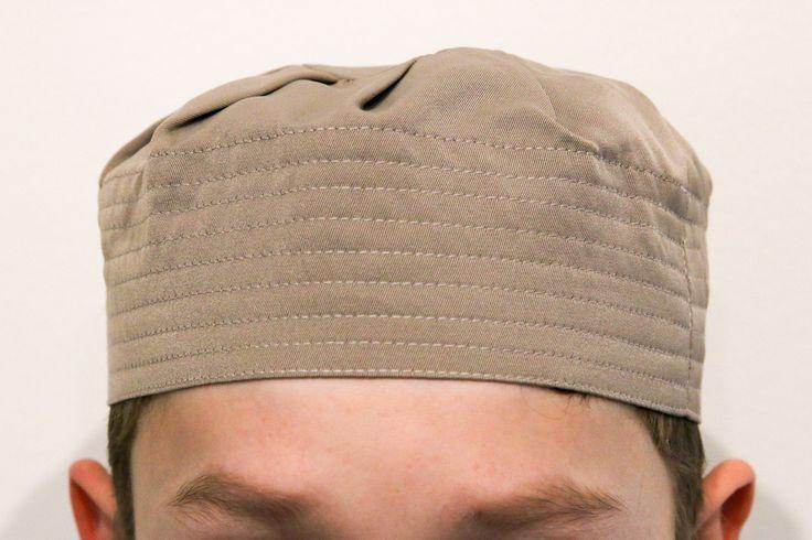 Kids Pleated Hat - Beige