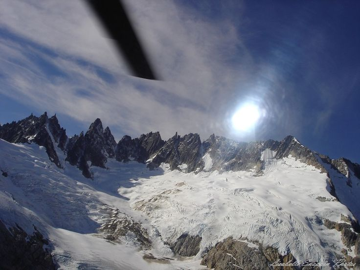 Valley of the glaciers Temsco Helicopter tour 2006 on way to land on a glacier #reviewalaska
