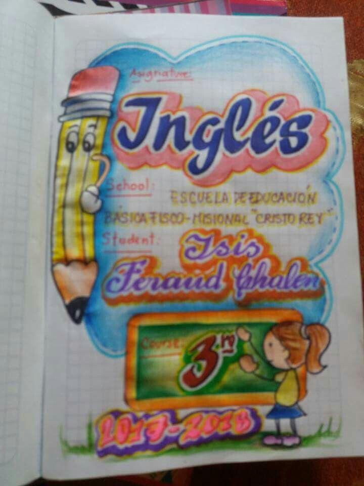 Esta es una caratula para tu cuaderno de inglés