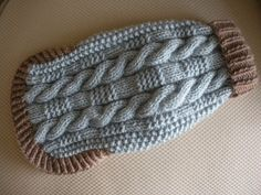 Cable knit doggy sweater - Learn how to knit!!!!