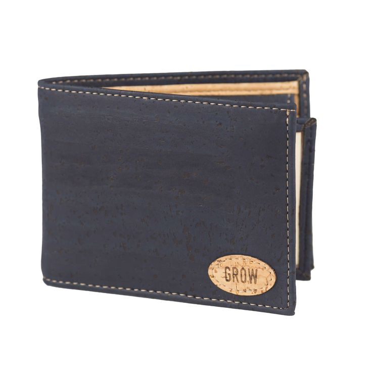 Mens Blue Cork Wallet, FREE-SHIPPING, Vegan Wallet, Eco Wallet, Gift for Him, Green Products, Kork by GrowFromNature on Etsy