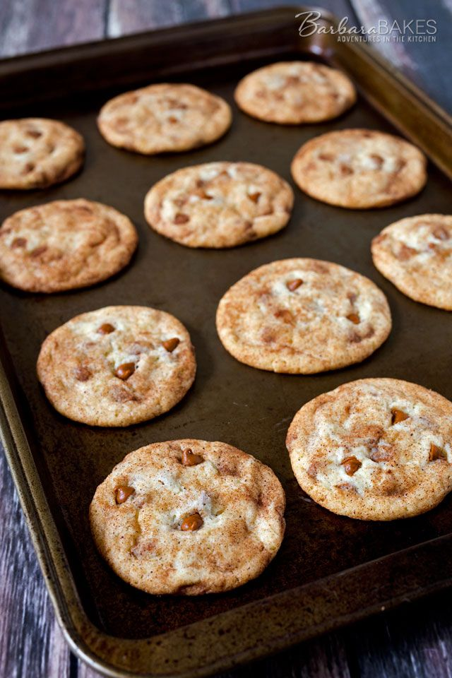 Take Snickerdoodles to a whole new level with the addition of Cinnamon Chips to the batter. #cookies #desserts #recipe