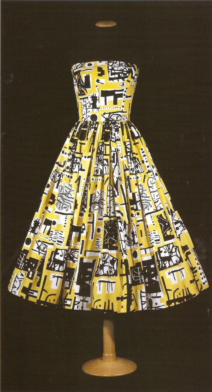 Horrockses dress, print by Eduardo Paolozzi