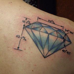 Ms de 25 ideas increbles sobre Tatuaje de diamante en Pinterest