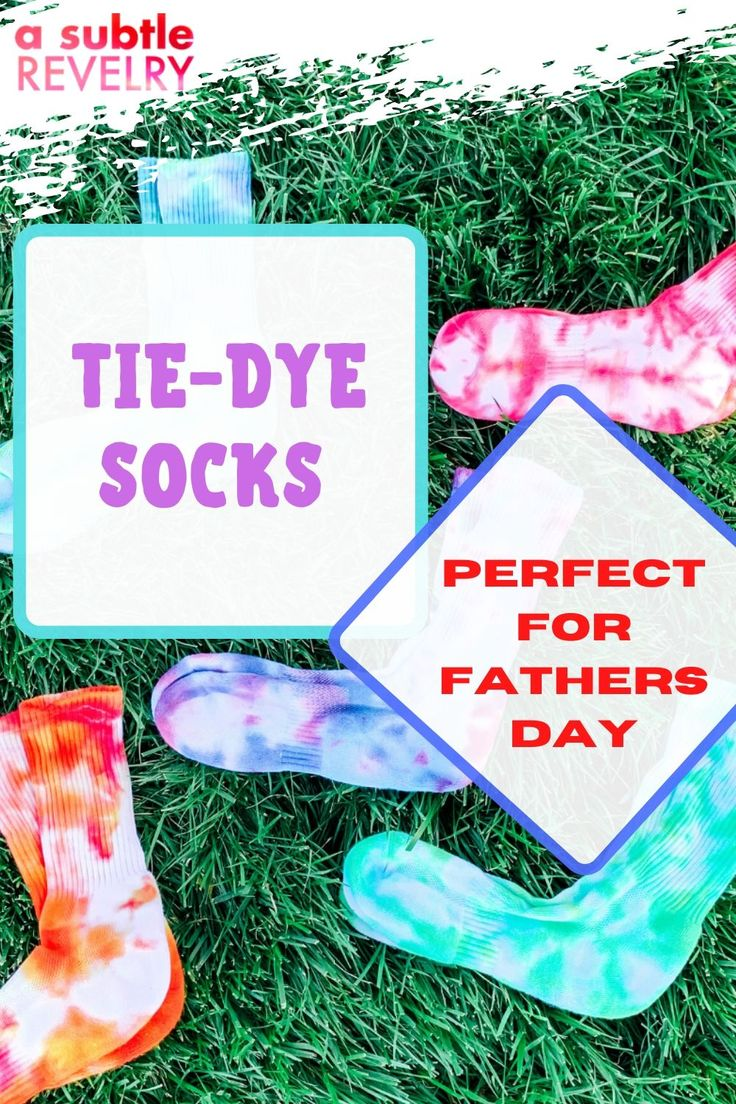 TieDye Socks Perfect for Fathers Day in 2020 Tie dye