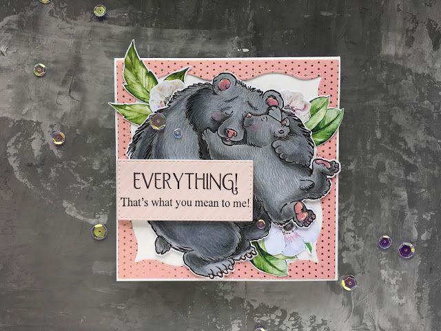As if by magic by Olesya Kharkova: Bear love | Love card