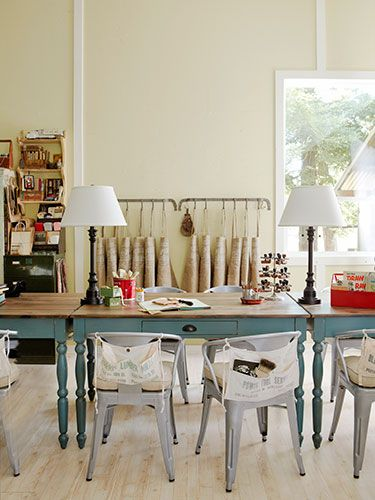 Cathe Holdenu0027s Inspired Barn Is Open For Business. Craft SpaceCraft  RoomsMetal ChairsRoom MakeoversKitchen ...