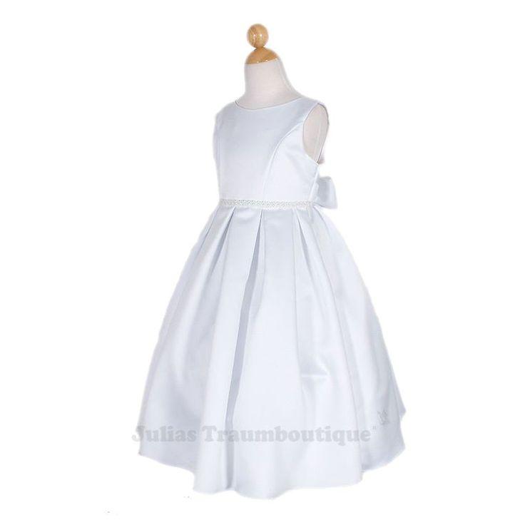 Brautmädchenkleid Mirabella Größe 92 bis 152 weiß - perfekt auch als Kommunionskleid