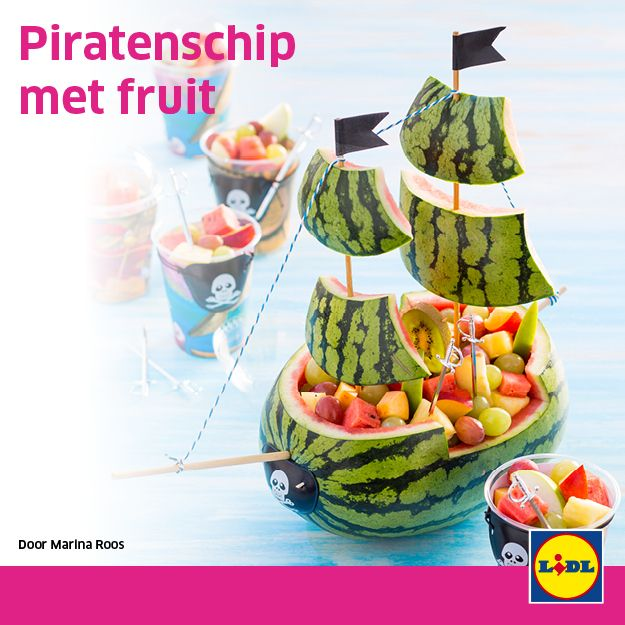 Piratenschip met fruit #traktatie #backtoschool #Lidl