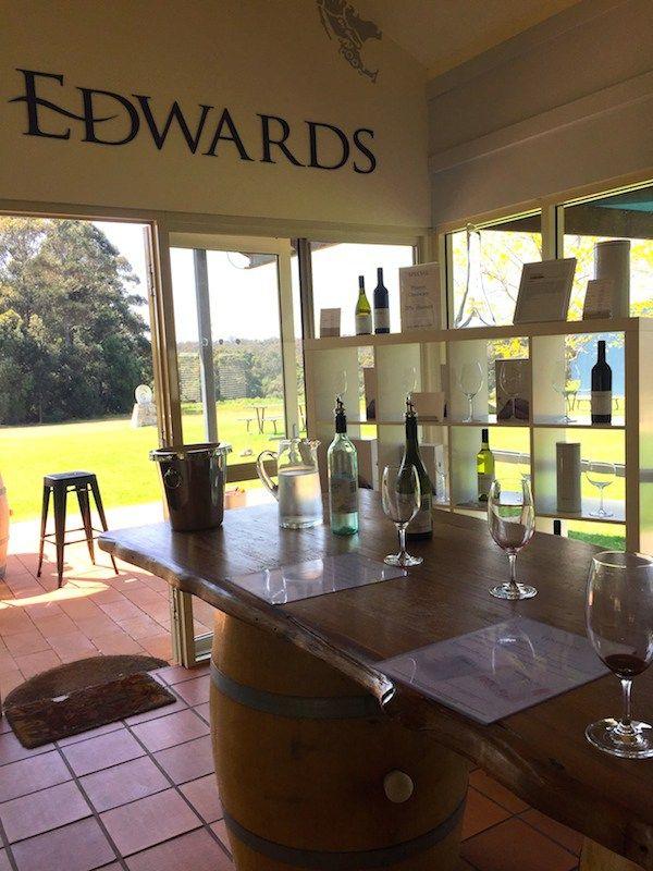 Wine tasting at Edwards Wines Margaret River