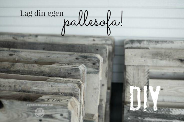 DIY Pallesofa