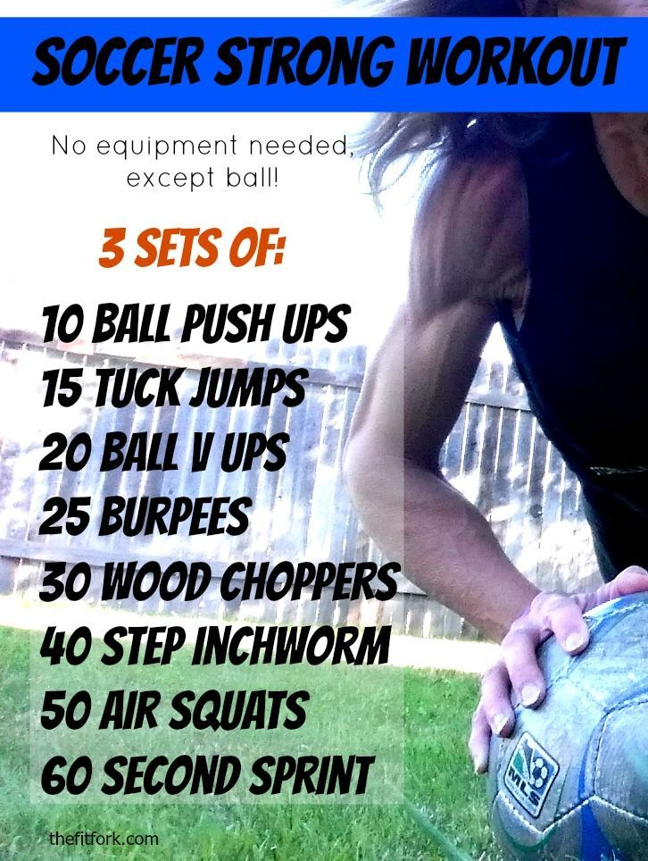 Soccer Strong Workout do this body weight WOD and get