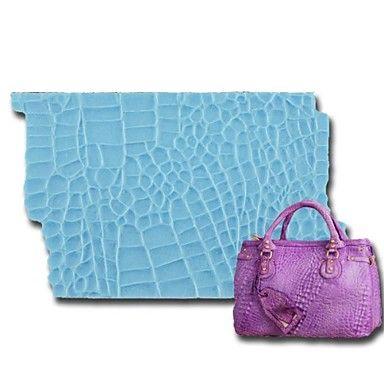 Maty wklej guma kremówki torebka tort narzędzi wykończeniowych silikon wrażenie skóry aligatora wrażenie silikonowy onlay – USD $ 9.99