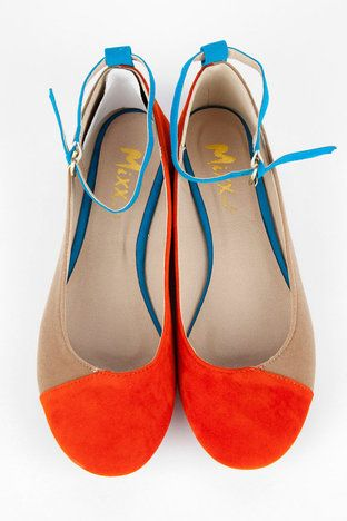 Color block suede shoe