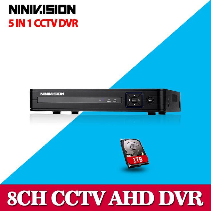 4CH 8CH AHD DVR 1080P AHD-NH CCTV Recorder Camera Network 8 Channel 1080P IP NVR 4CH Audio Input Multi-language alarm With 1TB