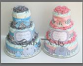 Baby of Mine. Diaper Cake , Pink and Grey Baby Shower , Chevron Baby Shower, Blue and Gray Baby shower, Baby Shower Decorations