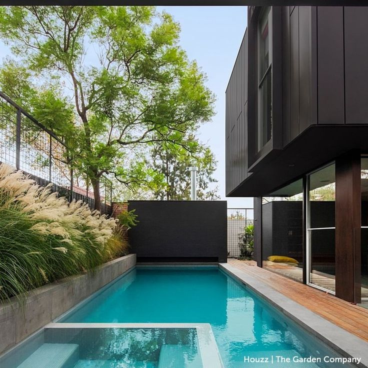 """846 Likes, 9 Comments - Houzz Australia (@houzzau) on Instagram: """"Cool down with this awesome project by Melbourne based landscapers and pool experts…"""""""