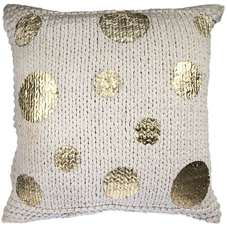 Give your room a metallic sheen with the Gilt Limited Edition Cushion 50x50cm in Multi Spot from Freedom Furniture at Crossroads Homemaker Centre