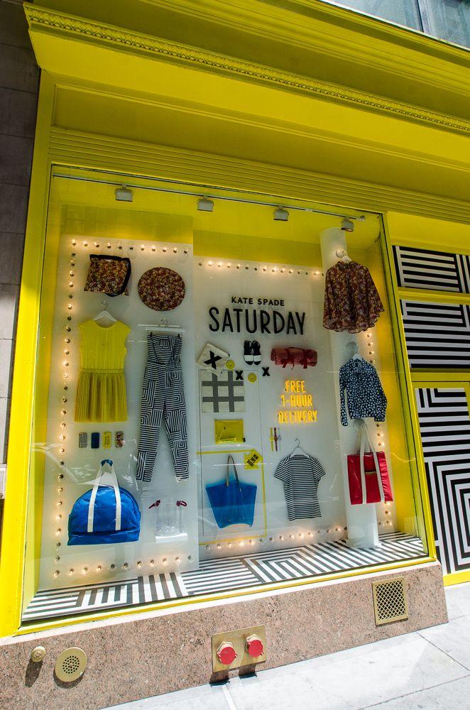 We love this KATE SPADE SATURDAY window display. #retail #merchandising #display