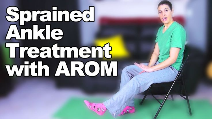 Sprained Ankle Treatment with Ankle/Foot AROM - Ask Doctor Jo
