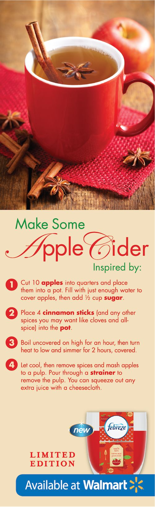 Is there anything better than warm apple cider during the holidays? #FebrezeHoliday
