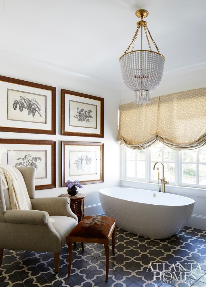 Photography Gallery Sites Shayelyn Woodbery us spa like master bath featured in Atlanta Homes u Lifestyles Jacqueline Chandelier