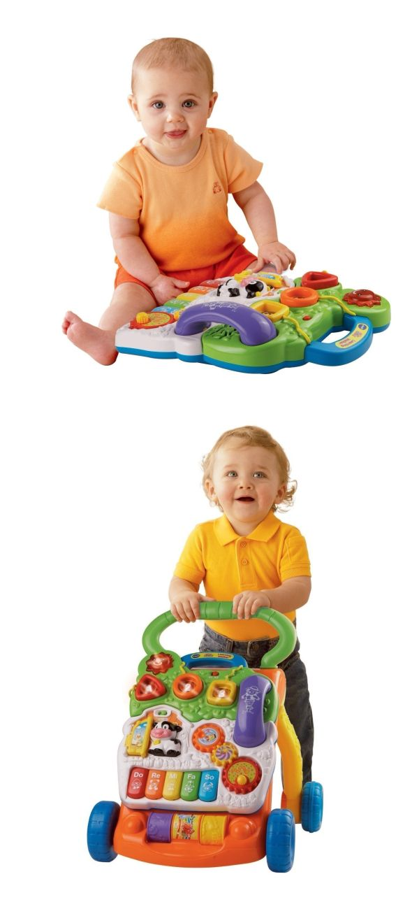 Why We Love It: Helping your baby develop from a crawler to a walker, the Vtech Sit-to-Stand Learning Walker is a must have. It features 70 sing-along songs, music, sound effects, and fun phrases. It has fun barnyard friends, spinning gears, five piano keys, colorful... Continue Reading