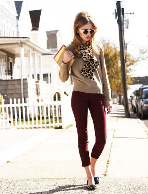 Colour combo to try: Burgundy & Nude