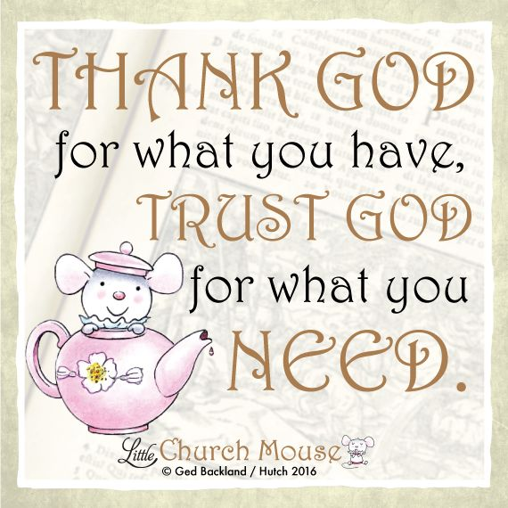 I will always trust God, will you?  #LittleChurchMouse