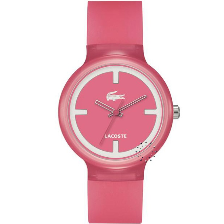 LACOSTE GOA Pink Rubber Strap  67€  Αγοράστε το εδώ:  http://www.oroloi.gr/product_info.php?products_id=28438