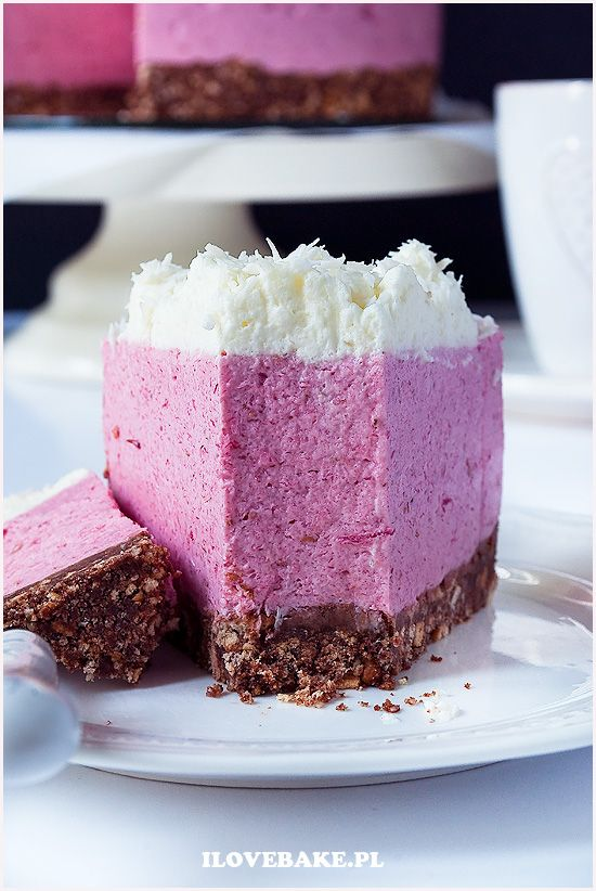 Deser z malinami na jogurtach greckich - ilovebake.pl #desserts #raspberry