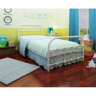 Rack Lindsay White Twin Bed | Overstock.com Shopping - Great Deals on Beds