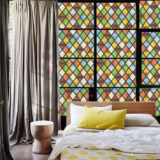 Best Stained Glass Window Film Inspiration Images On Pinterest - Stained glass window stickers amazon