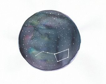 Constellation Big Bear made in watercolor.