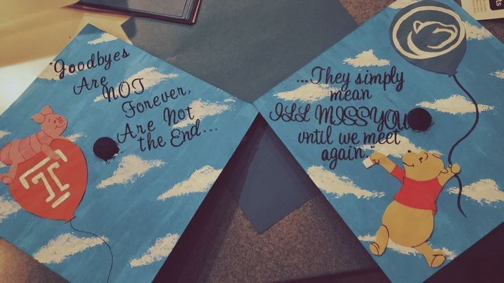 Winnie the Pooh Castle Cap! #gradcap #graduation #graduationcap #winniethepooh #w