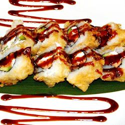 Vegas Roll- Philadelphia Roll deep fried tempura style.