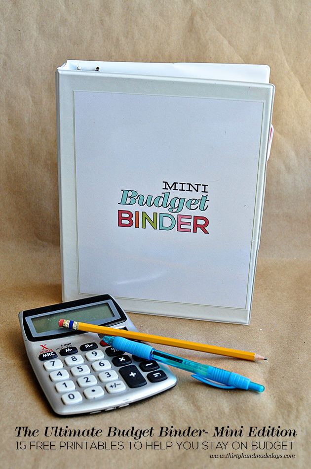 The Ultimate Printable Budget Binder, MINI Edition - featuring 15 amazing printables from www.thirtyhandmadedays.com for personal use only