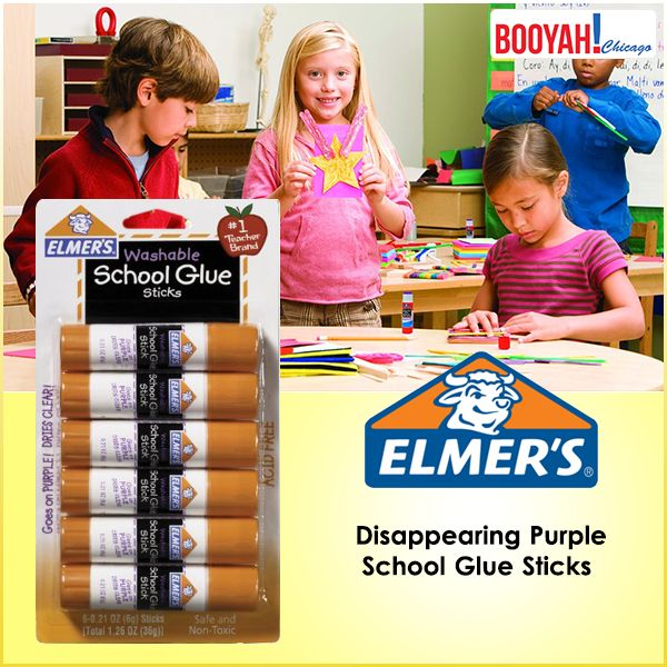 #GenuineImportedProductsDirectFromUSA Only at http://Booyahchicago.com  Elmer's Disappearing Purple School Glue Sticks. Buy Now : https://tinyurl.com/y8br5pde #OfficeSupplies #SchoolSupplies