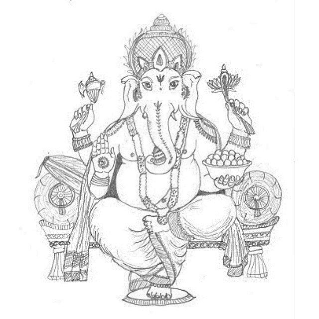 Beautiful sketch of Lord Ganesha जय श्री गणेश: I'm in love with Ganesha #ganesha…
