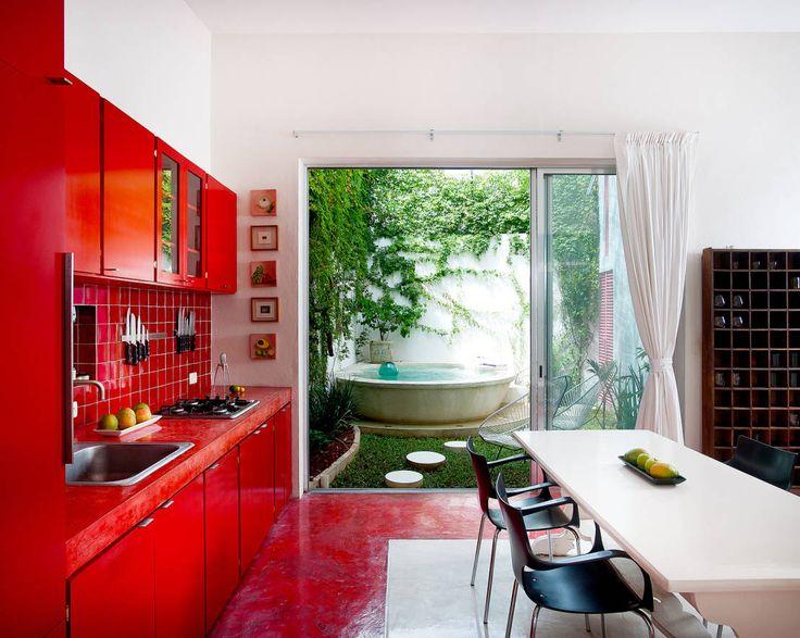 Cocinas: Ideas en tonos claros, neutros, vibrantes, para espacios. #ideasparacocinas #followme