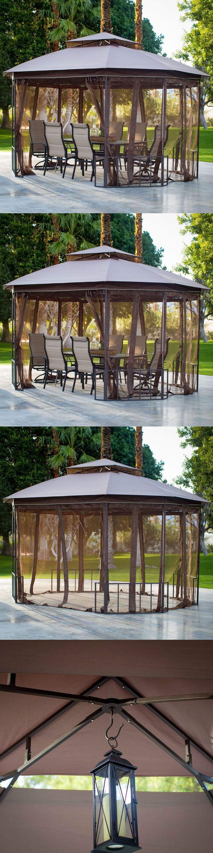 farm and garden: 10X12 Gazebo Canopy Deluxe Patio Outdoor Tent Shelter Backyard Garden Furniture -> BUY IT NOW ONLY: $279.99 on eBay!