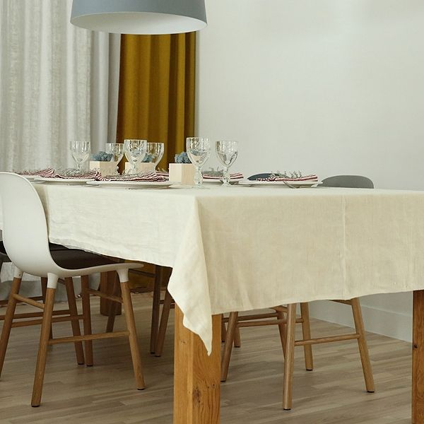 Cream Linen Tablecloth Lara Part 46